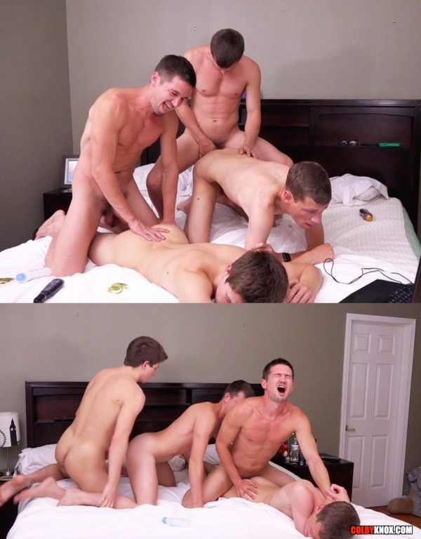 ColbyKnox 4-Way with Cameron and Oliver Cameron Taylor, Colby Chambers, Mickey Knox Oliver Saxon