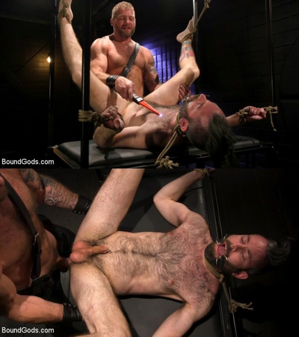 BoundGods SEX RELIEF: New boy's self care is BDSM Colby Jansen Buster Rhodes