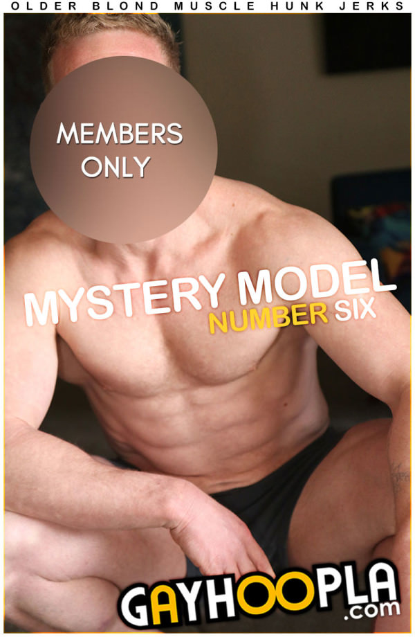 GayHoopla Mystery Members Only Model #6 Ripped Older Blonde Jock Rick Randolph Jerks Off