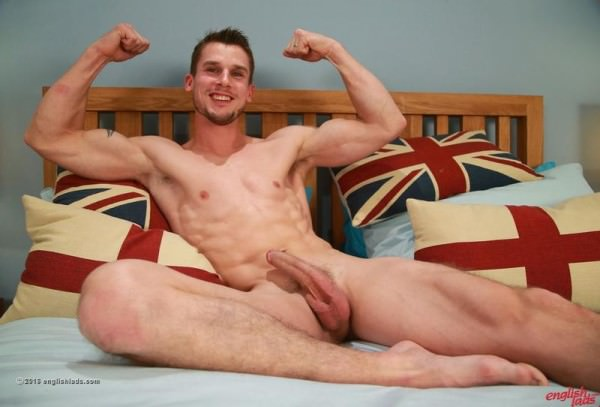 EnglishLads Ripped Straight Lad Ellis shows off his Hot Body and Wanks his Long Hard Uncut Cock Ellis Mann