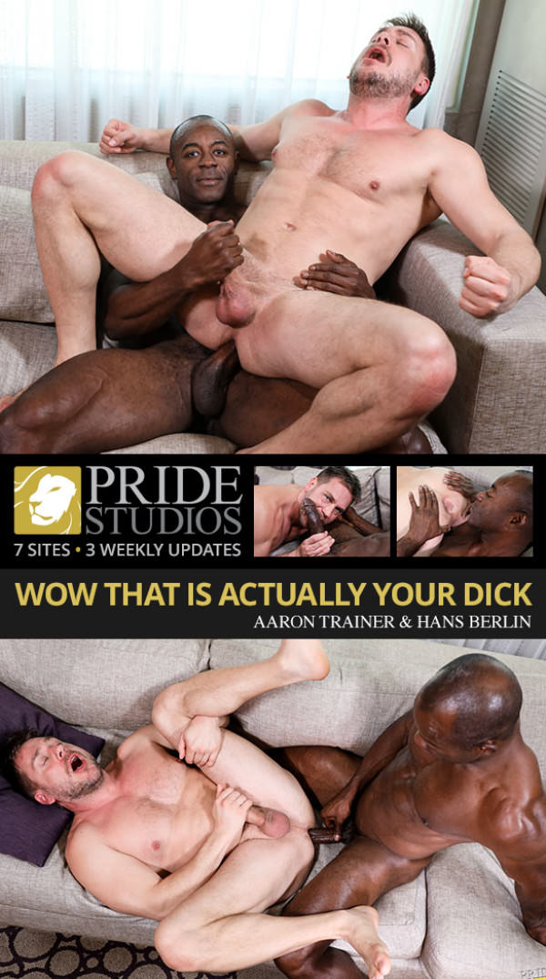 ExtraBigDicks Wow That Is Actually Your Dick Hans Berlin gets fucked raw by big-dicked muscle daddy Aaron Trainer
