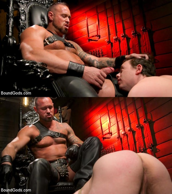 BoundGods The Torment of Tobias: Muscle hunk submits to Michael Roman