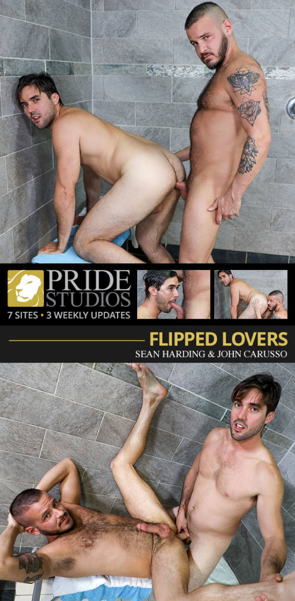 PrideStudios Flipped Lovers Sean Harding John Carusso fuck each other raw