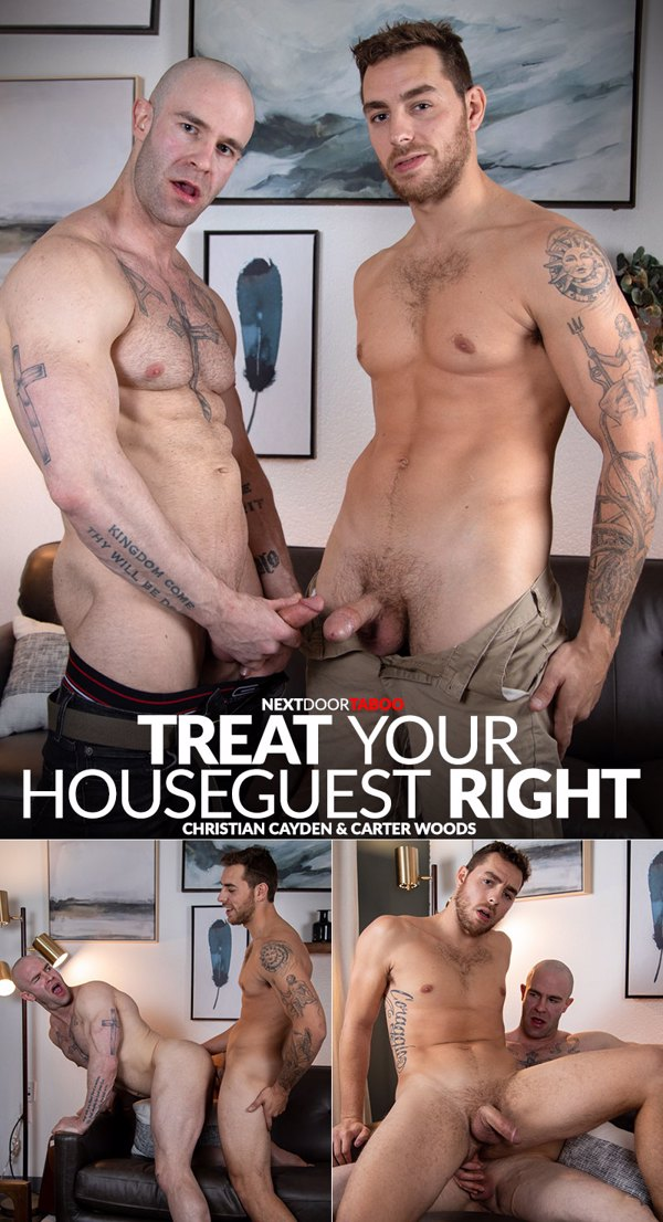 Treat Your Houseguest Right - Christian Cayden and Carter Woods Cover