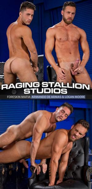RagingStallion – Foreskin Mafia – Logan Moore bottoms for Armando de Armas