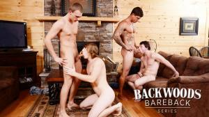 JuicyBoys – Backwoods Bareback Part 3 – Bryce, Scott Harbor, Sebastian Young & Tom Faulk
