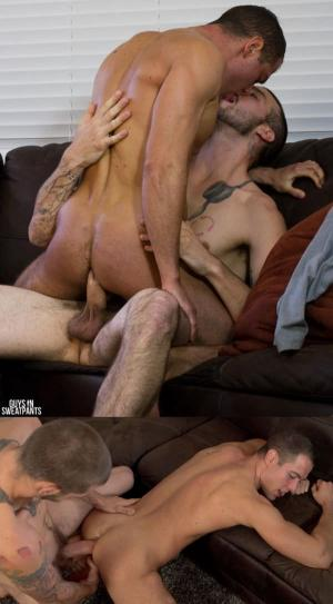 GuysInSweatpants – Buck loads up Brendan – Brendan Phillips & Buck Richards – Bareback