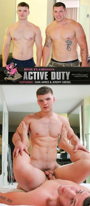 ActiveDuty – Jeremy Diesel & Ivan James Flip Fuck Raw