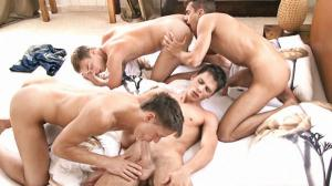 KinkyAngels – Ends Up As An Orgy – Claude Sorel, Billy Montague, Jaco Van Sant & Bobby Noiret – Bareback