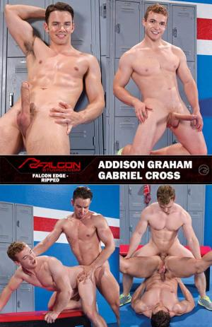 FalconStudios – Ripped – Addison Graham & Gabriel Cross bang each other