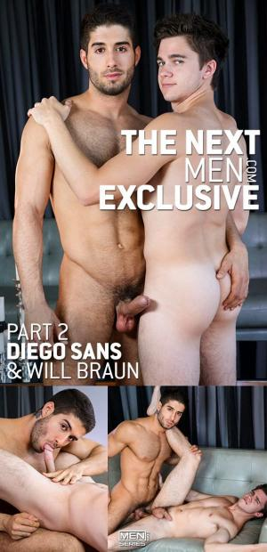 DrillMyHole – The Next Men Exclusive, Part 2 – Diego Sans fucks Will Braun – Men.com