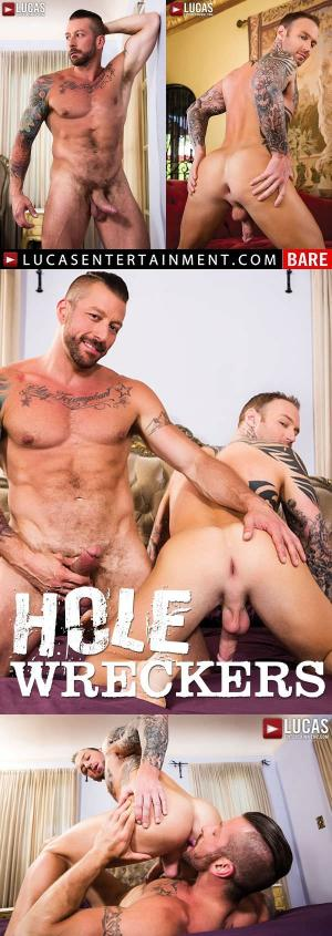 LucasEntertainment – Hole Wreckers , Scene 1 – Dylan James and Hugh Hunter Flip-Fuck Raw