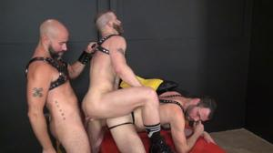 RawAndRough – Red Fuck Table – Damon Andros, Jeremy Stevens & Dusty Williams – Bareback
