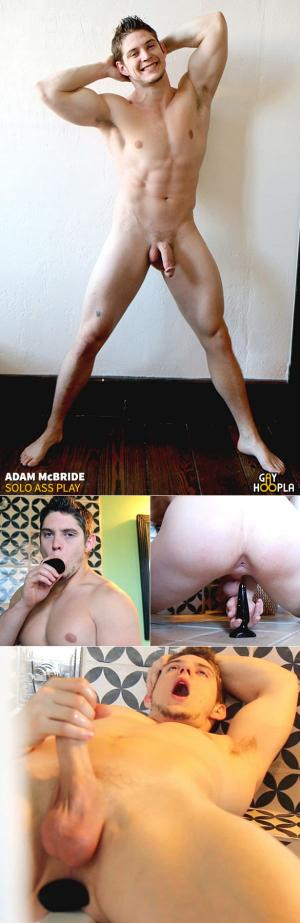 GayHoopla – Adam McBride fills his ass with toys