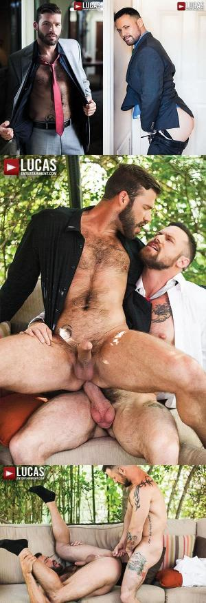 LucasEntertainment – Xavier Jacobs & Sergeant Miles – Scruff In Suits – Bareback