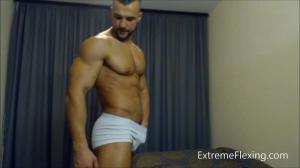 AllAmericanGuys – Strip & Flex Naked & Hard Cock – Contest shape – Hot Fighter Raul