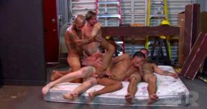 Channel1Releasing – Cum Guzzler Club Scene 2 : Initiation Orgy – Braxton Smith, Damian Ximer, Dimitri Kane, Mickey O'Brien, Roman Chase & Zaq Wolf