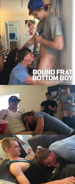 FraternityX – Bound Frat Bottom Boy – Bareback