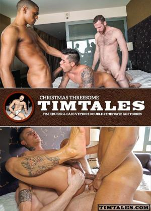 TimTales – Christmas Threesome – Tim Kruger & Caio Veyron Double-Penetrate Ian Torres