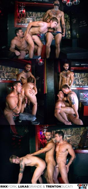 CockyBoys – One Erection Episode 1: Sticky Face – Lukas Grande, Rikk York & Trenton Ducati