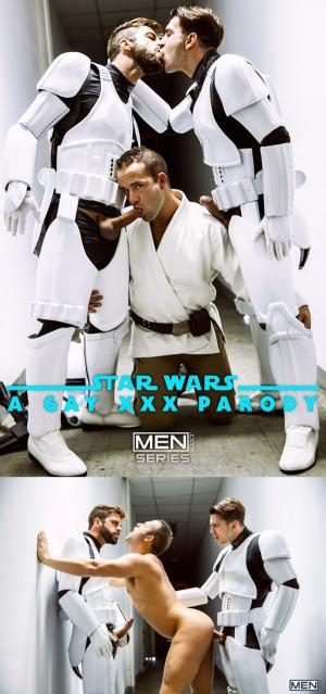 JizzOrgy – Star Wars 4 : A Gay XXX Parody – Hector De Silva, Luke Adams, Paddy O'Brian & Troopers – Men.com