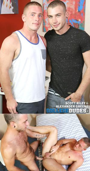 CollegeDudes – Alexander Greene fucks Scott Riley