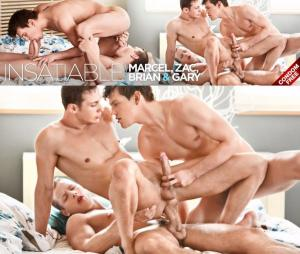 BelAmiOnline – INSATIABLE – Gary Danton, Marcel Gassion, Zac DeHaan and Brian Jovovich – Part 1 – Bareback