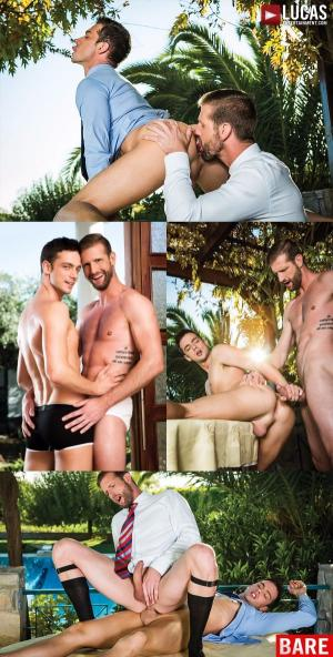 LucasEntertainment – Damon Heart And Jesse Vos Swap Their Raw Cum – Bareback
