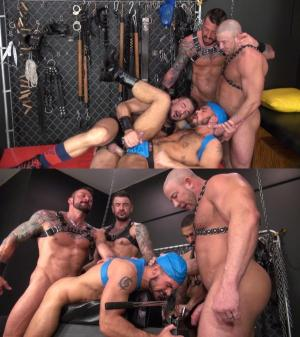 RawandRough – Muscle Daddy Gang Bang – Dolf Dietrich, Shay Michaels, Hugh Hunter & Aarin Asker
