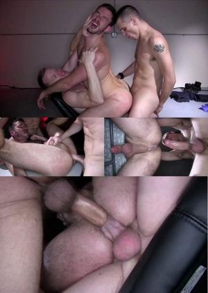 DarkAlleyXT – Shackled and Loaded – Jay Conrad, Michael Derek & Owen Powers – Bareback