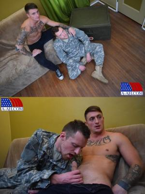 AllAmericanHeroes – Corporal Dane's First Gay Blowjob