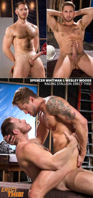 RagingStallion – Erect This! – Wesley Woods and Spencer Whitman pound each other