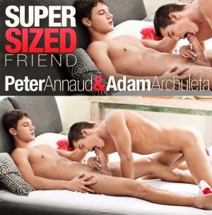 BelAmiOnline – SUPERSIZED FRIEND… Peter Annaud bottoms for Adam Archuleta – Bareback