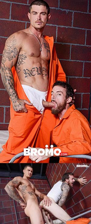 Bromo – Barebacked in Prison – Part 3 – Sebastian Young Fucks Rocko South