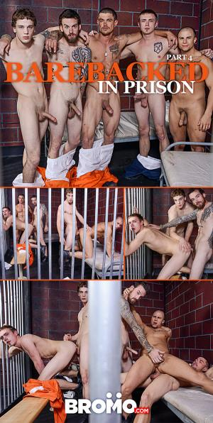 Bromo – Barebacked In Prison Part 4 – Sebastian Young, Eli Hunter, Zane Anders, Donny Forza & Rocko South
