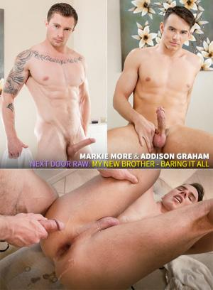 NextDoorRaw – My New Brother: Baring it All – Markie More & Addison Graham – Bareback