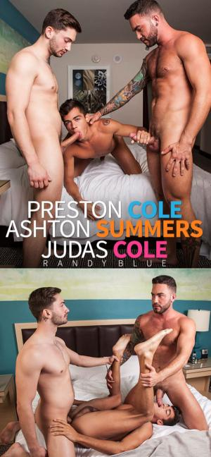 RandyBlue – Taking 2 Brothers, Part 1 – Judas Cole, Preston Cole and Ashton Summers fuck raw