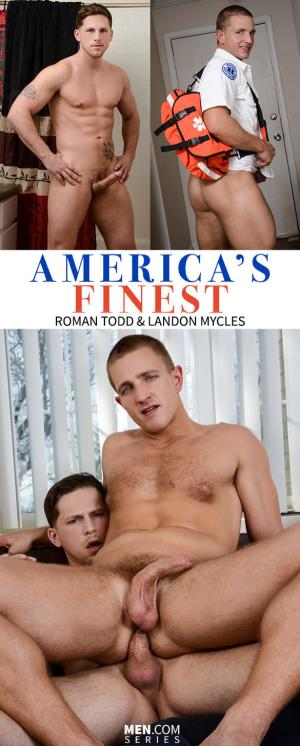 DrillMyHole – America's Finest, Part 2 – Roman Todd fucks Landon Mycles – Men.com