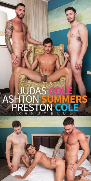 RandyBlue – Taking 2 Brothers, Part 2 – Judas Cole, Preston Cole and Ashton Summers fuck raw