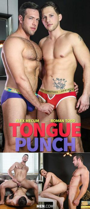 Str8toGay – Tongue Punch – Alex Mecum and Roman Todd flip fuck – Men.com