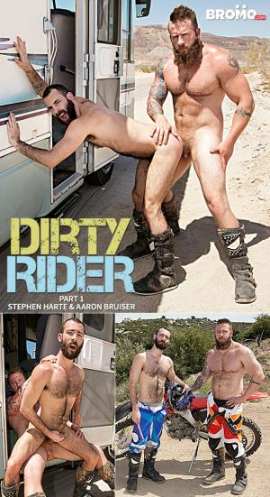 Bromo – Dirty Rider, Part 1 – Aaron Bruiser pounds Stephen Harte raw