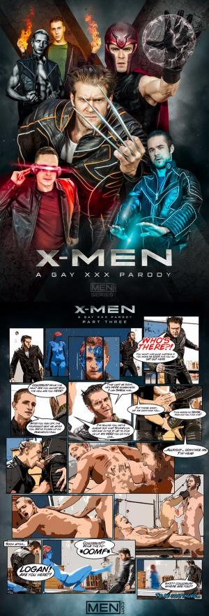 DrillMyHole – X-Men – A Gay XXX Parody, Part 3 – Colby Keller fucks Landon Mycles – Men.com