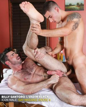 IconMale – Gay Massage House 4 – Vadim Black fucks Billy Santoro