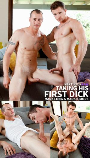 NextDoorRaw – Taking His First Dick – Markie More & Mark Long – Bareback