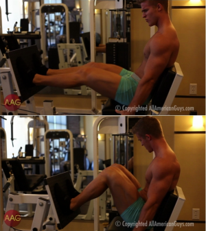 AllAmericanGuys – Alex C. works out legs