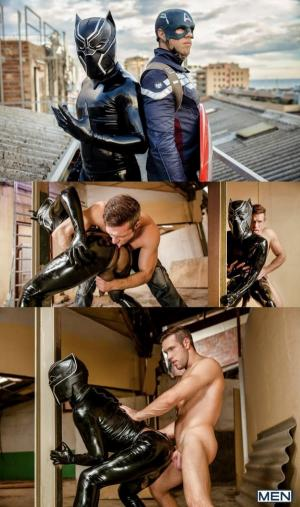 SuperGayHero – Captain America – A Gay XXX Parody Part 2 – Alex Mecum and Black Panther – MEN
