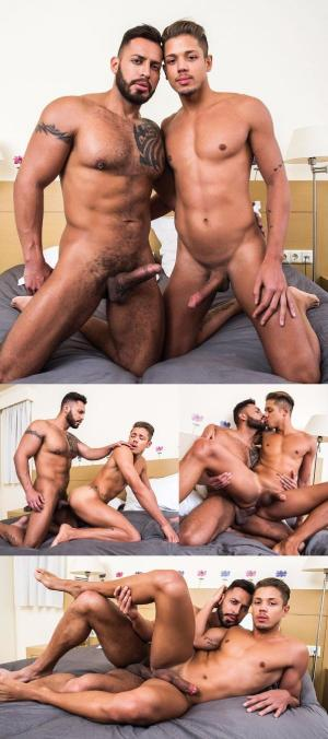 Lucas Entertainment – Hard-Hitting Tops ,Scene 3  – Viktor Rom Visser Pounds Lorenzo Ciao – Bareback