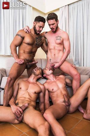 Lucas Entertainment – Ibrahim Moreno Takes On Three Uncut Cocks – Ibrahim Moreno, Viktor Rom, Javi Velaro & Josh Rider – Bareback
