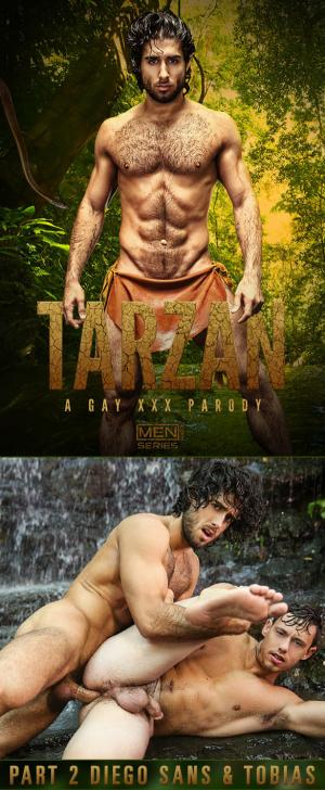SuperGayHero – Tarzan: A Gay XXX Parody, Part 2 – Diego Sans bangs Tobias – Men.com