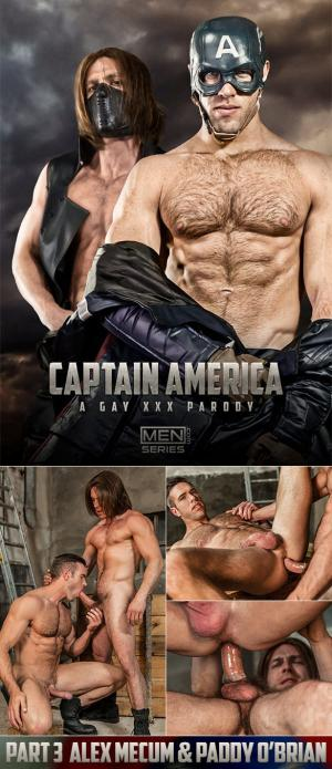 SuperGayHero – Captain America: A Gay XXX Parody, Part 3 – Paddy O'Brian pounds Alex Mecum – Men.com